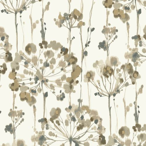 PSW1097RL York Wallcoverings Simply Candice Flourish Peel and Stick Wallpaper Neutral
