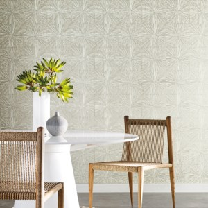 OG0500 York Wallcoveirngs Antonina Vella Elegant Earth Squareburst Wallpaper Glint Room Setting