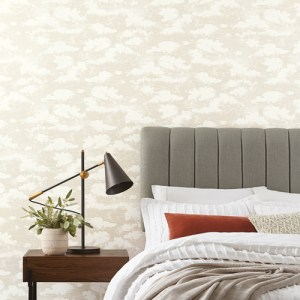SS2525 York Wallcoverings Silhouettes Cloud Cover Wallpaper Metallic Glint Room Setting