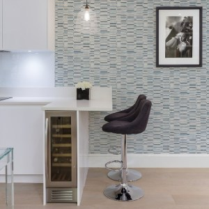 2949-60802 Brewster Wallcoverings A Street Prints Imprint Fresnaye Linen Stripe Wallpaper Blue Room Setting
