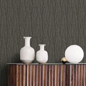 2232110 Seabrook Wallcoverings Etten Essential Textures Delicate Birch Wallpaper Umber Room Setting