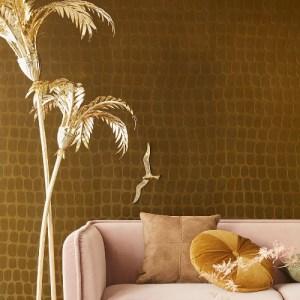 300560 Hyde Graphic Croc Flock Wallpaper Coffee Room Setting