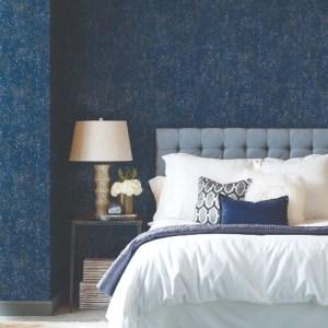 CI2321 Gilded Confetti Wallpaper Navy Room Setting