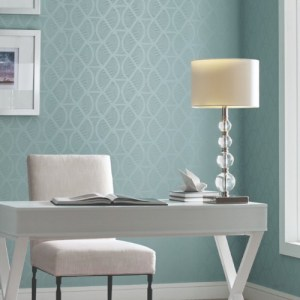 CI2381 Opposites Attract Wallpaper Blue Room Setting