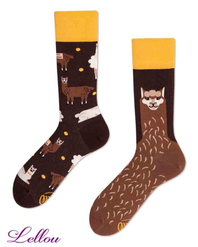 Chaussettes dépareillées Alpaga amusantes et drôles
