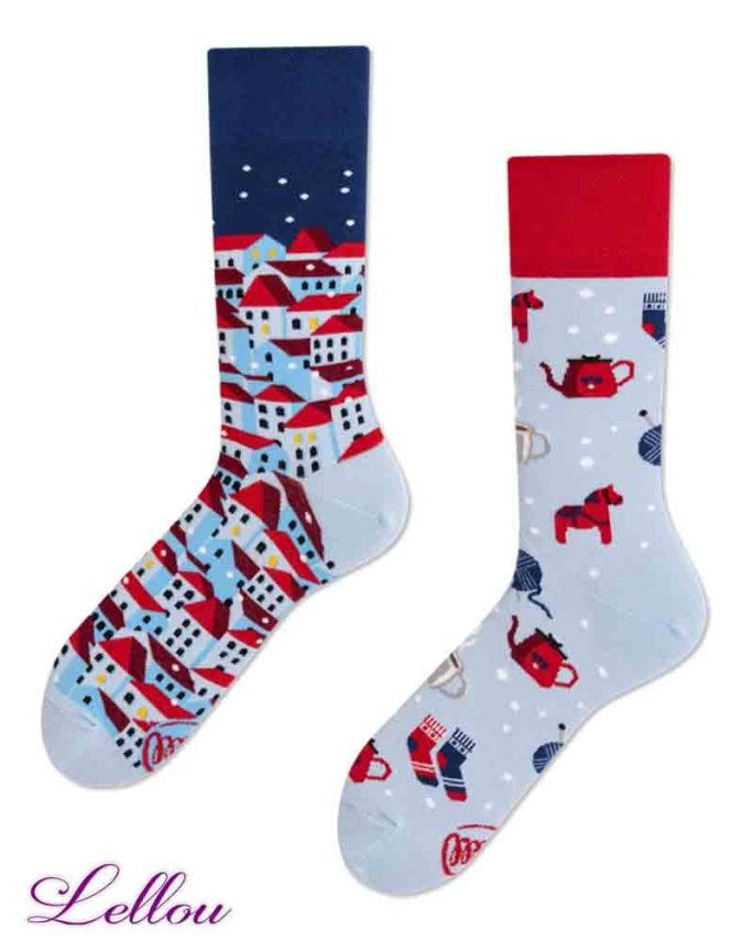 Chaussettes Dépareillées Cocooning HYGGEE regular Socks amusantes et drôles. La vie est trop courte pour des chaussettes ennuyeuses! Europe