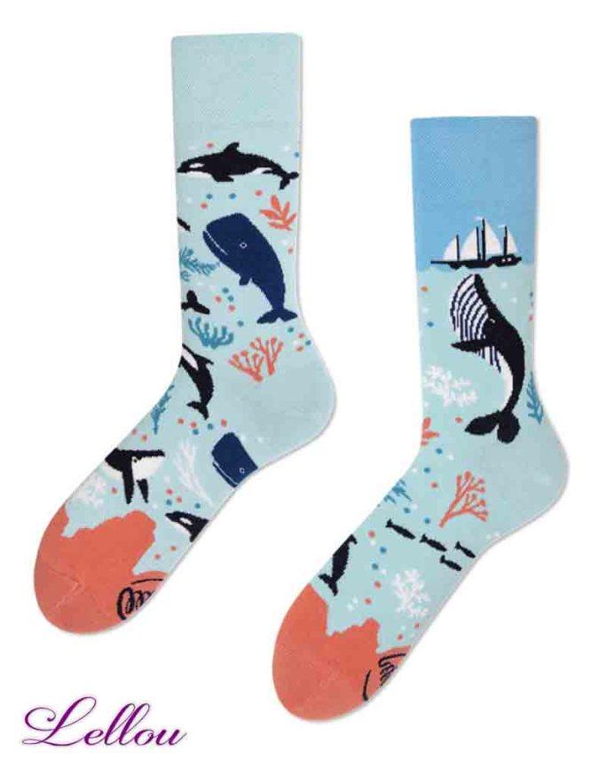 Chaussettes dépareillées Océan Socks amusantes et drôles. La vie est trop courte pour des chaussettes ennuyeuses! Production Europe