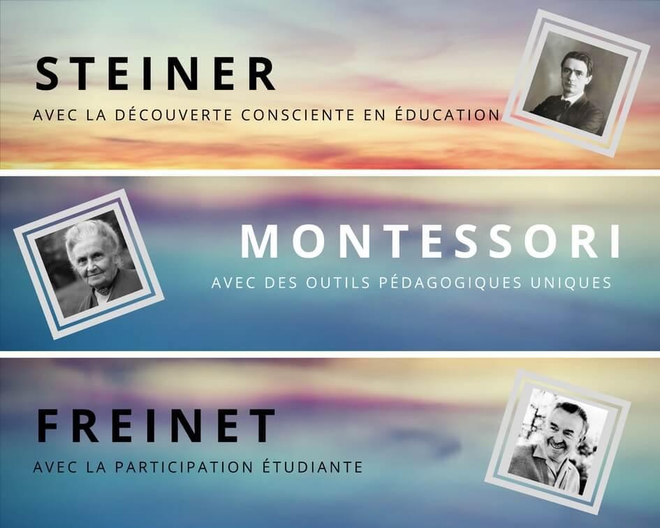 Montessori-Steiner-Freinet