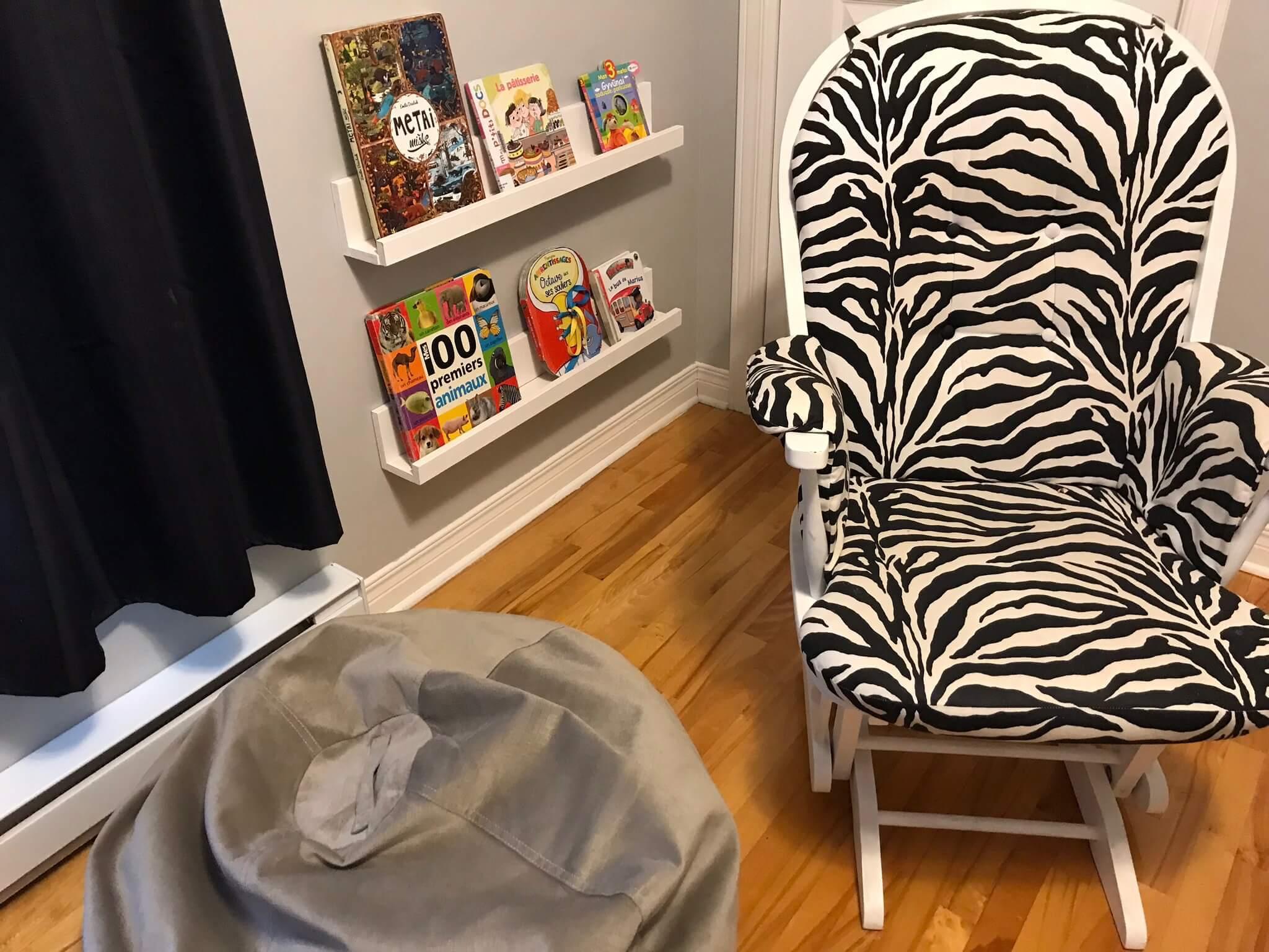 Coin lecture Montessori afin de relaxer avant de se coucher.