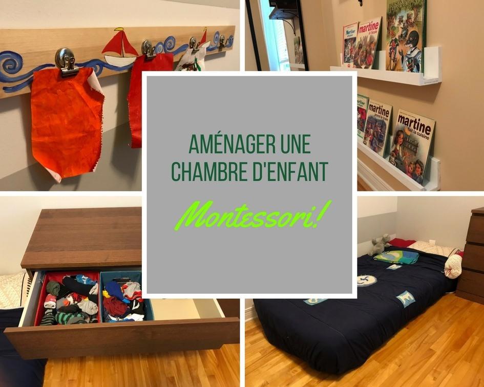 Aménager une chambre d'enfant Montessori