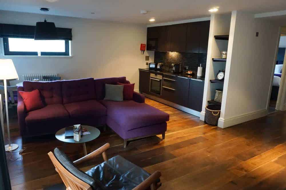 Lounge at Old Town Chambers, luxury apartment in Edinburgh.