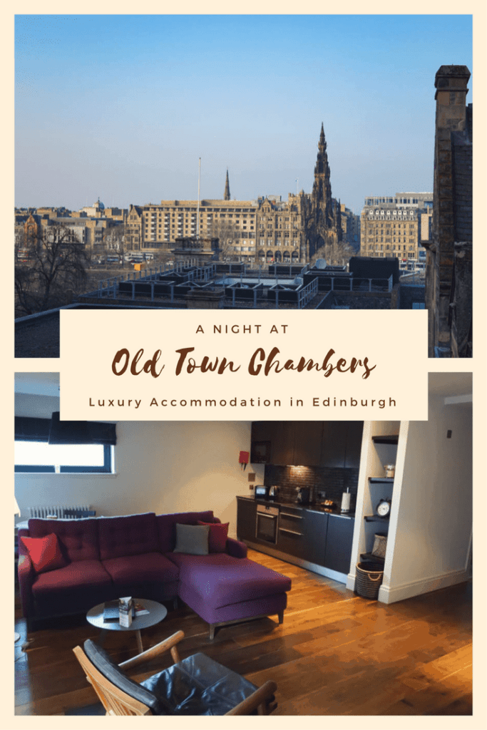 Old Town Chambers offer luxury accommodation in the heart of Edinburgh. These 5-star apartments are the perfect setting for a family holiday, romantic retreat, or business stay. Read our full review of Old Town Chambers here.