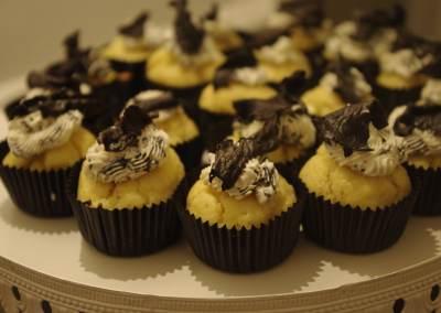 Muffins forestiers aux trompettes de la mort.