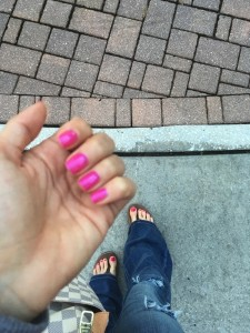 Fresh out of getting my mani- pedi-