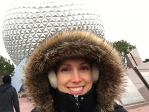 It was FREEZING in Epcot even with all this on!! :)