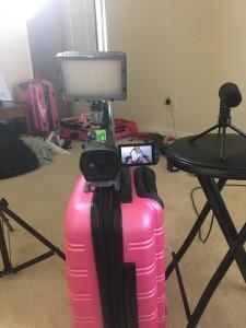 Behind the scenes setup