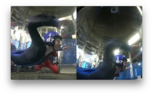 Screenshot from my upcoming indoor skydiving video :)