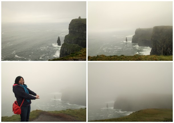 20 minutes later, the An Branan Mor (Sea Stack, i.e. that lone rock jutting out from the sea) is virtually invisible