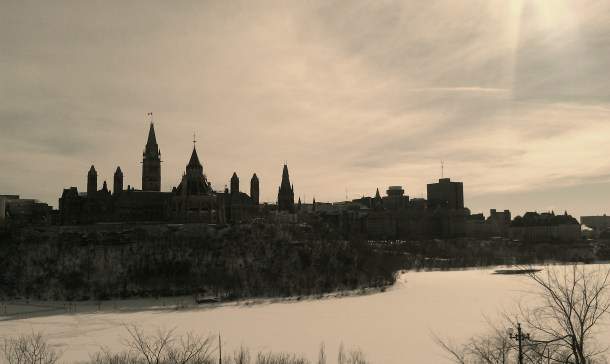 The Parliament Hill on a VERY cold winter afternoon
