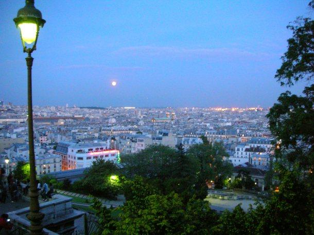 Paris basking under the moonlight