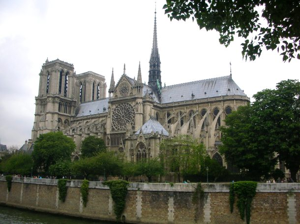 Notre Dame, seen from across the Seine.