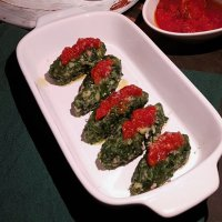 Spinach and ham quenelles