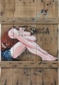 28082013-Jana & Js_Sans Titre_2013_79x54cm_pochoir, aérosol, acrylique sur bois_Courtesy Galerie Openspace_