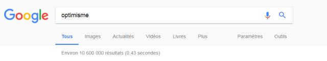 résultat recherche google optimiste pessimiste