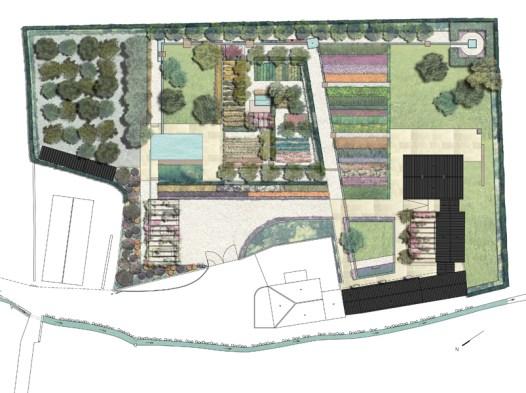 Plano del Jardín de la Huerta de la Purísima