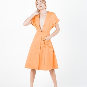 Tala dress in Tangerine