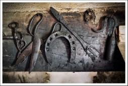 Vieux outils forgés