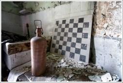 Bottle & checkerboard