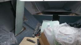 Aymeric Blin Modification du bateau, d'un canard à deux dérives. 2013