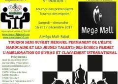 9ème édition du tournoi national des challengers du jeu d'échecs