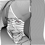 A girl's face made out of lines by John LeMasney via lemasney.com