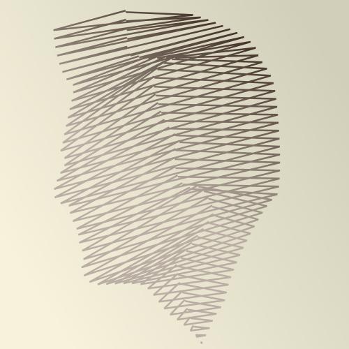A face made out of lines by John LeMasney via lemasney.com