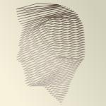 A face made out of lines by John LeMasney via lemasney.com #cc #design #head