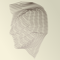 A face made out of lines by John LeMasney via lemasney.com #cc #design #head