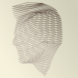 A face made out of lines by John LeMasney via lemasney.com