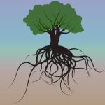 39 of 365 is a tree of knowledge showing its roots #inkscape