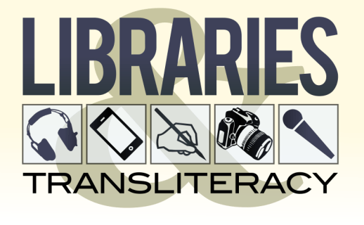 Libraries and Transliteracy cc-by lemasney #logo #Inkscape #libraries #design #typography