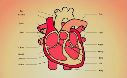 A diagram of my heart by John LeMasney via lemasney.com