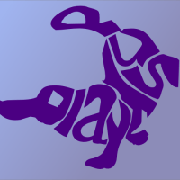Platypus made out of text #design #typography#Inkscape