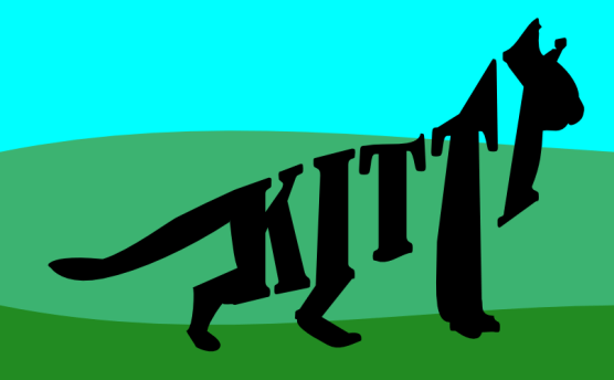 Kitty made out of text by John LeMasney via 365sketches.org #cats #design #creativecommons