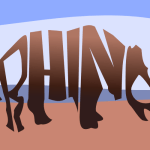 278 of 365 is a rhino made of text #design #typography #Inkscape