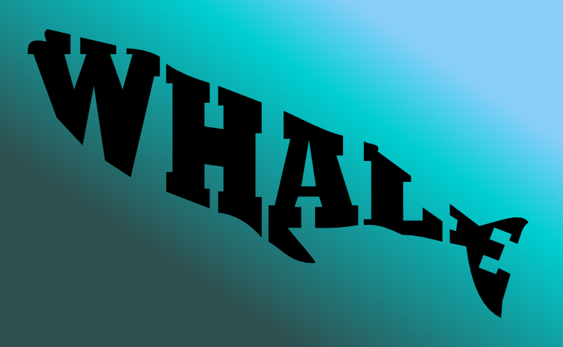 A whale made of text by John LeMasney via 365sketches.org #Inkscape #design #typography