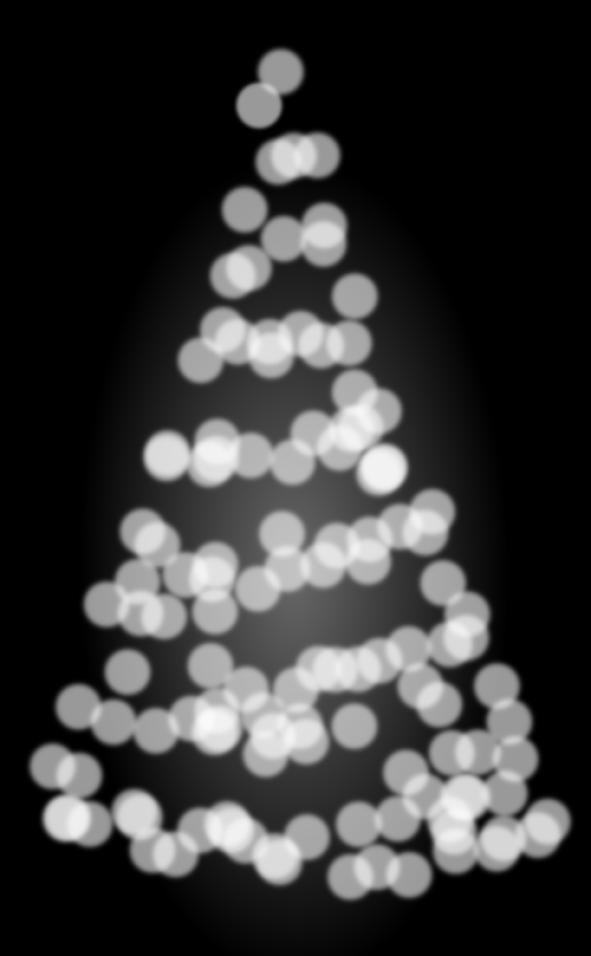 A Christmas tree by John LeMasney via 365sketches.org #cc #design #bokeh