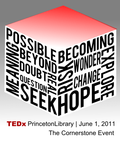 TEDx Princeton Libraries final branding by John LeMasney via 365sketches.org #Inkscape #tedx #logo