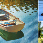 An idyllic lake scene by John LeMasney via 365sketches.org #cc #design #photo