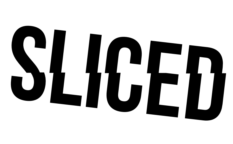 20121122: Sliced by John LeMasney via 365sketches.org #cc #design #typography